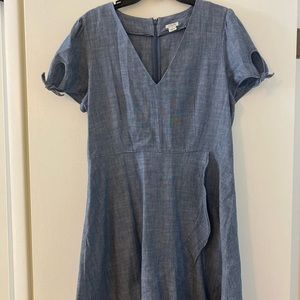 J. Crew Chambray dress
